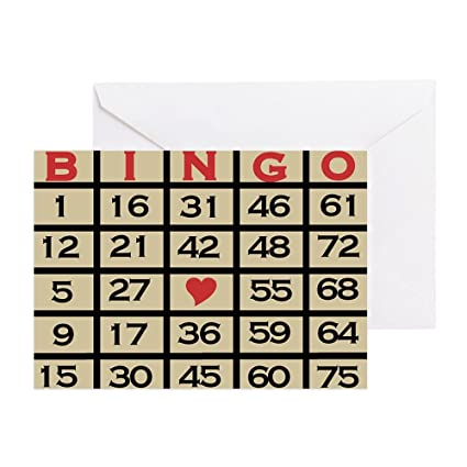 Amazon Cafepress Bingo Game Card Greeting Card Note Card