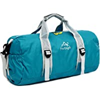 Forestfish Gym Tote Bag Lightweight Collapsible Travel Duffel Bag Water Resistant Sports Bag Foldable Small Portable Bag Women Men