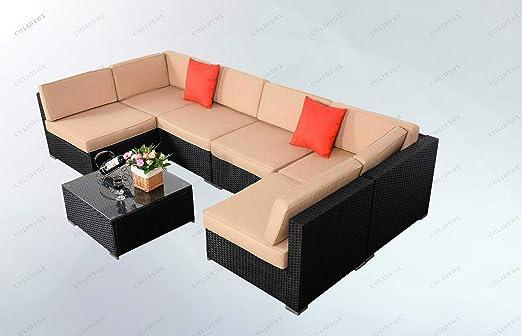 Amazon.com: COLIBROX>>>7 Pieces Outdoor Patio Table Chairs ...