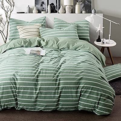 DACHUI Cotton bed sheets - 1800 beds fade, stain resistant - Hypoallergenic - 4 units (simple strips)-H Queen 1.