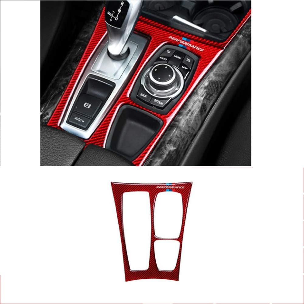 YXSMTB Adesivo per Auto Trim M per Rivestimento del Cambio con Rivestimento in Fibra di Carbonio./per la Decorazione Interna BMW X5 X6 E70 E71 2009 2013