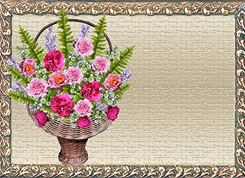 Photography Poster - Greeting Card, Basket, Roses, 24