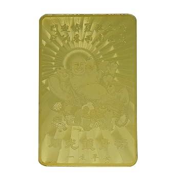 Amazon Ratnatraya Feng Shui Buddha Good Luck Gold Card For