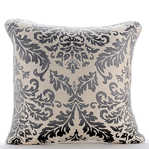 Paloma Green Throw Pillows Cover, Contemporary Floral Cushion Covers, 12