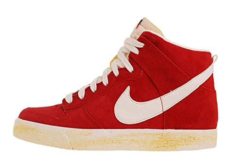 new concept b923c c31e9 Nike Dunk High AC VNTG Varsity Red Suede Saile Classic Shoes QS 398263-601