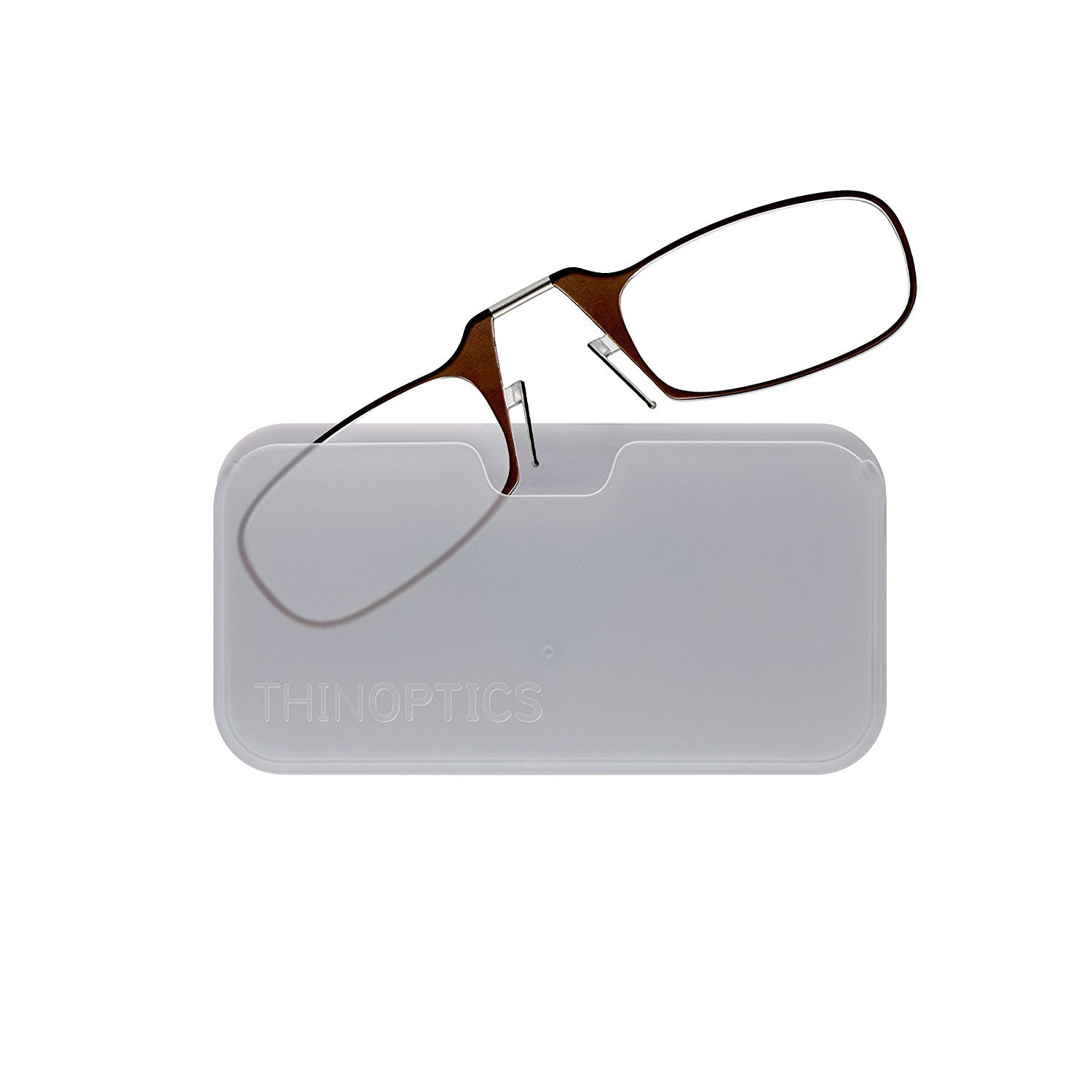 acc7f717dfe ThinOptics Reading Glasses + White Universal Pod Case