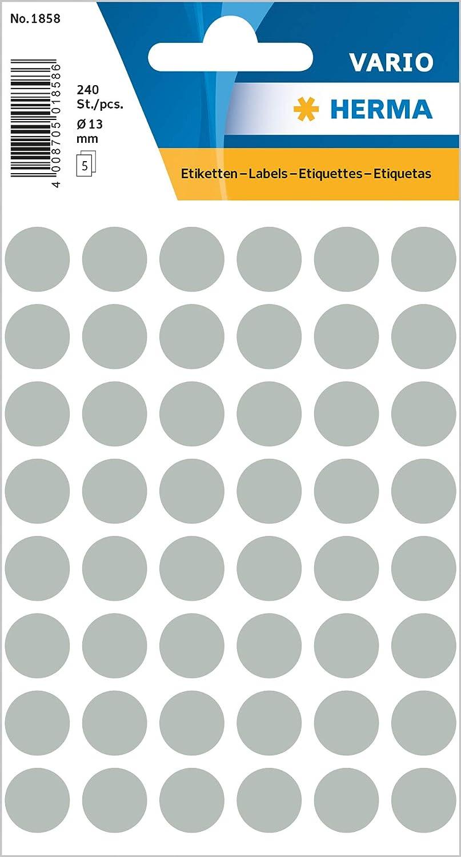 selbstklebend rund Herma 2274 Vielzweck Etiketten farbig neon orange /Ø 32 mm 360 Markierungspunkte Handbeschriftung 24 Blatt Papier matt
