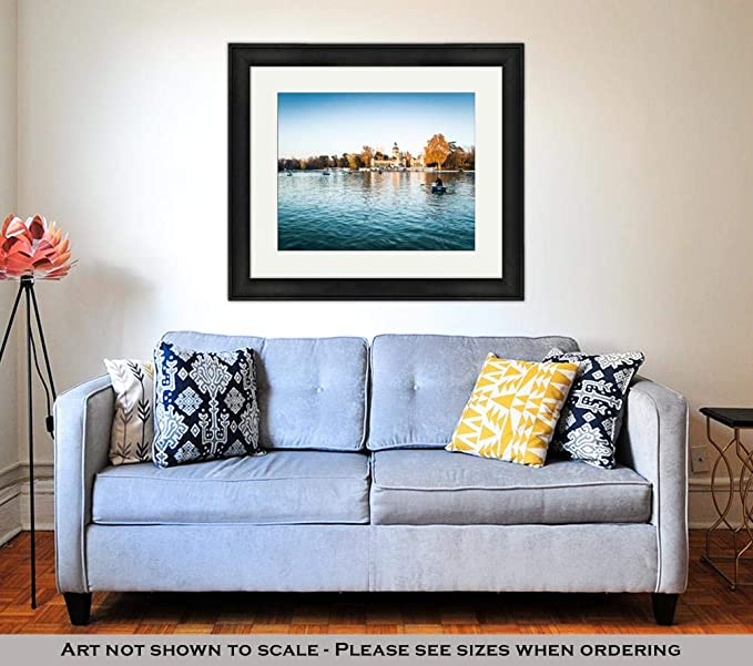 Amazon.com: Ashley Framed Prints Parque Del Retiro, Wall Art ...