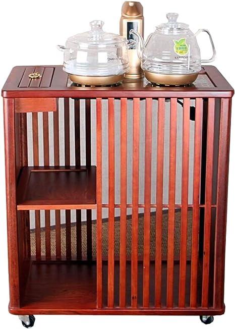 ZHNA Mesa de Centro móvil Cocina de inducción casera de Madera Maciza Kung Fu Juego de té Armario Simple Moderno (Size : Big): Amazon.es: Hogar