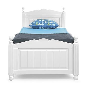 Firstloft Bett Holz Weiß 100 X 200 Cm Amazonde Küche Haushalt