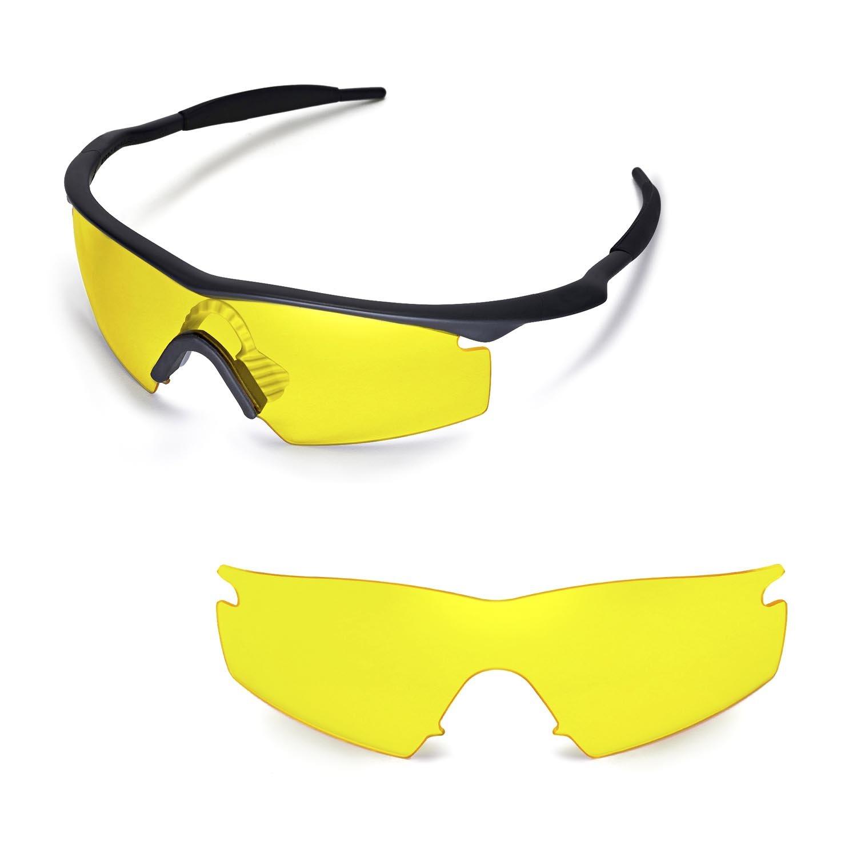 da23e22645 Walleva Replacement Lenses for Oakley M Frame Strike Sunglasses - Multiple  Options (Yellow)