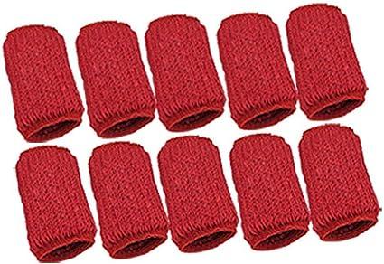 Rouge 10 pi/èces prot/ège-Doigts /étui de Protection pour Les Doigts Les Doigts Prot/ège-Doigts Protection Contre la Compression Ogquaton /Étui de Protection pour Les Doigts