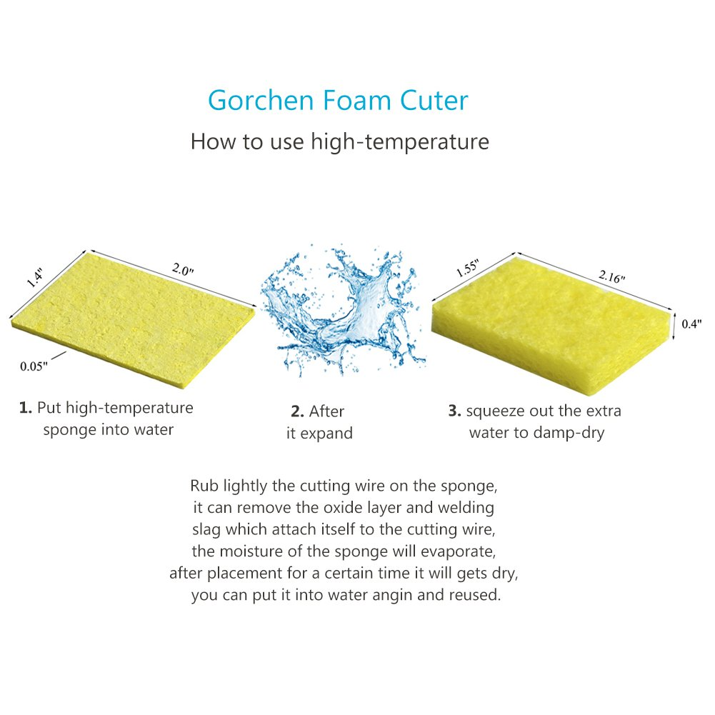 Gorchen Foam Cutter Electric Styrofoam Cutting Pen Wax Diy Wiring Diagram Hot Wire Craft Knife Tool Kit With Metal Stand Holder High Temperature Sponge Voltage