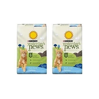 Amazon.com: Purina noticias de ayer aroma fresco papel gatos ...