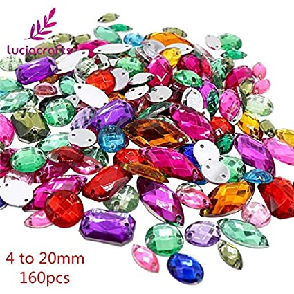 4bc2e1595d Amazon.com: Best Quality - Rhinestones - cafts Mixed Shapes Clear ...
