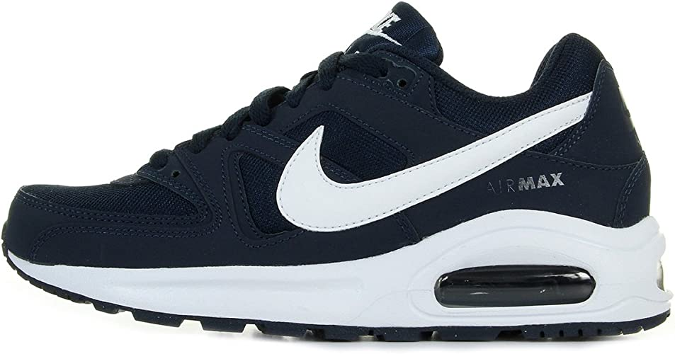 Biblia Húmedo simplemente  Nike - Air Max Command Flex - 844346400 - Color: Navy Blue-White - Size:  8.0: Amazon.ca: Shoes & Handbags