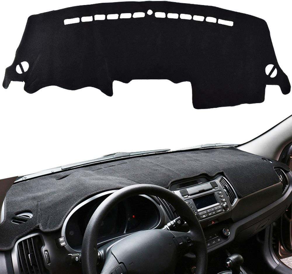 WXHHH Car Dashboard Cover Dash Mat, for Kia Sportage R 2011 2012 2013 2014 2015, Car Instrument Panel Light Proof Pad