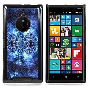 - Pattern Wallpaper Lace Universe Cosmos Blue - Caja del tel????fono delgado Guardia Armor- For Nokia Lumia 830 Devil Case