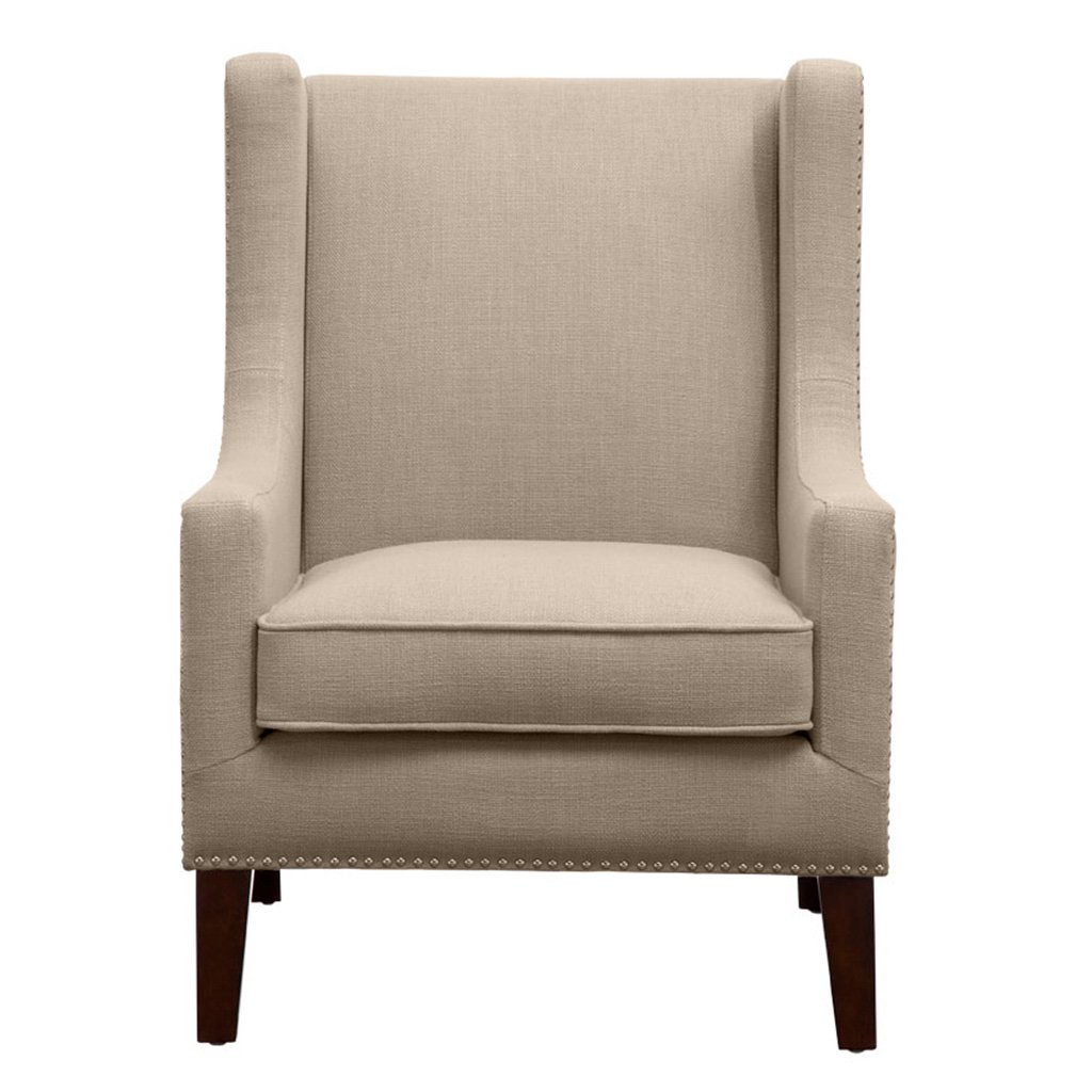 Amazon.com: Madison Park Barton Wing Chair - Linen - 30.3W x 33.9D x ...