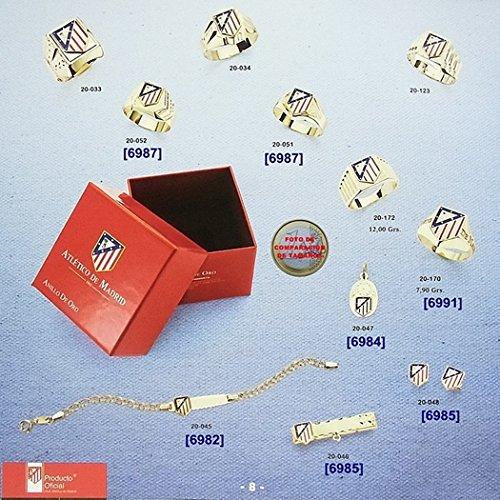 Pendentif Atletico Madrid loi bouclier 18k de 16mm en or. [6972GR] - Modèle: 20-013 - personnalisable - ENREGISTREMENT INCLUS DANS LE PRIX