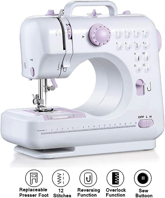 Maquina de Coser Electrica 12 Puntadas Mini Máquinas de coser ...