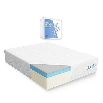 lucid 14 inch plush memory foam mattress Amazon.com: LUCID 14 Inch Plush Memory Foam Mattress   Ventilated  lucid 14 inch plush memory foam mattress