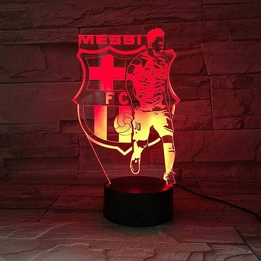 Barcelona Messi logo3D luz de noche dormitorio escritorio LED ...