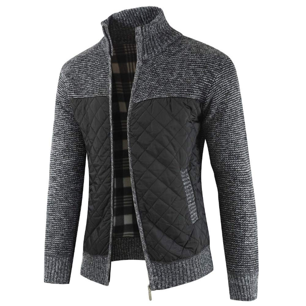 Work Rain Coats for Men Waterproof with Hood Mens Autumn Winter Packwork Warm Zipper Jacket Knit Cardigan Long Sleeve Coat