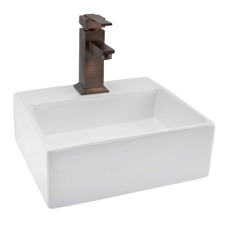 Naiture Porcelain Mini Wall Mount Bathroom Sink 1 Hole