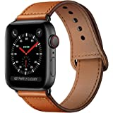 KYISGOS Compatible with iWatch Band 44mm 42mm 40mm 38mm, Genuine Leather Replacement Band Strap Compatible with Apple…