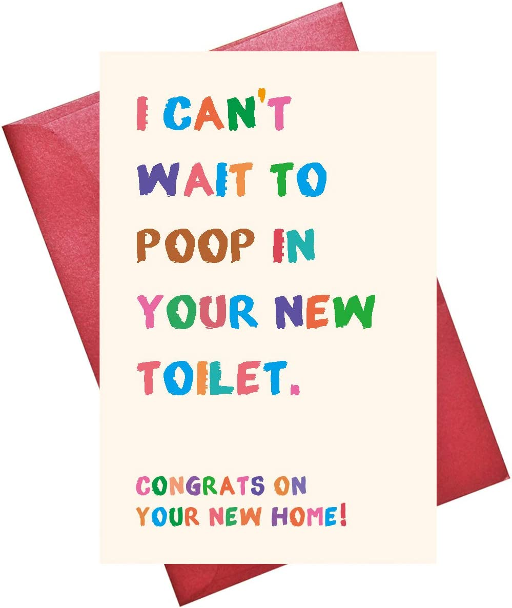 Funny New House Card, Housewarming Gift, House warming Party Gift, Congratulations Card for Housewarming