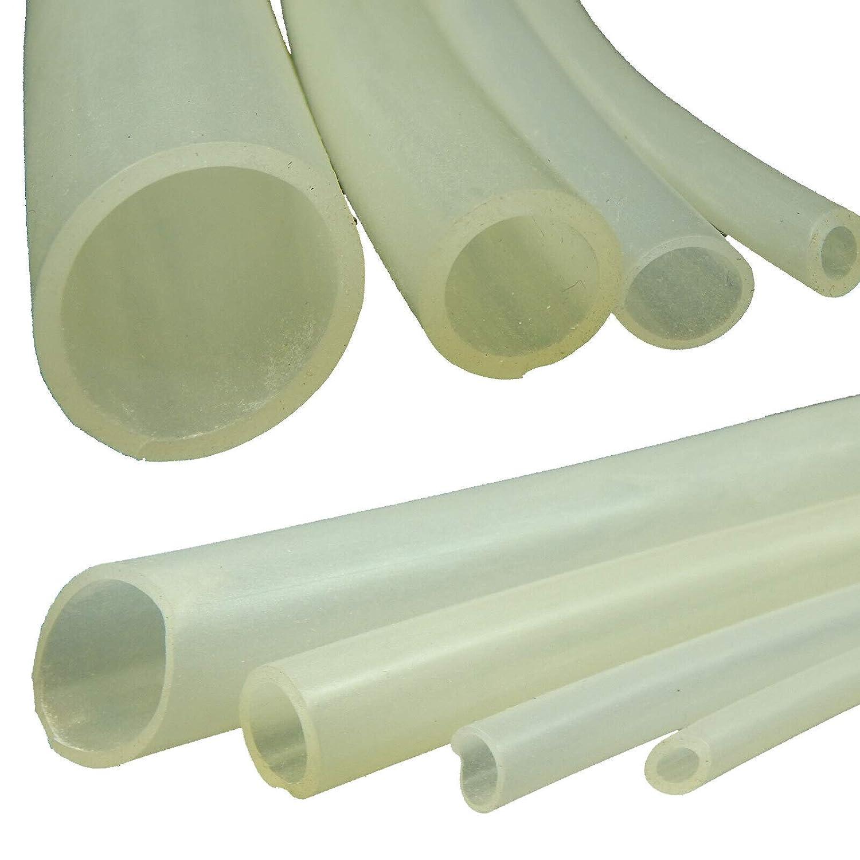 transparent 1 mm x 2 mm 162 Tuyau flexible en silicone Vendu au m/ètre
