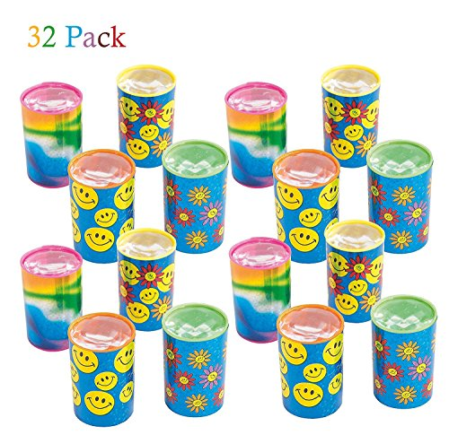 Kicko Mini Kaleidoscope Prism Toy 1.75 Inches - Pack of 32 - Assorted Colors and Designs Mini Prism - for Kids Great Party Favors, Bag Stuffers, Fun, Gift, Prize