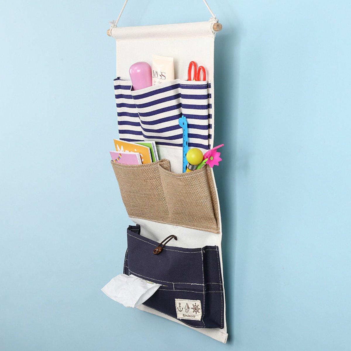 Tissue Box Navy Stripe Servietten Tasche Kordelzug Wandbehang Platzierung 11.0 21.7 In,Bluestripes
