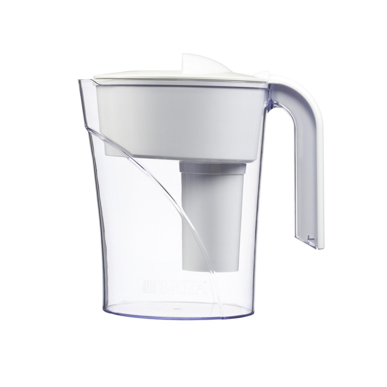 Brita 6 Cup Classic BPA Free Water Pitcher with 1 Filter, White