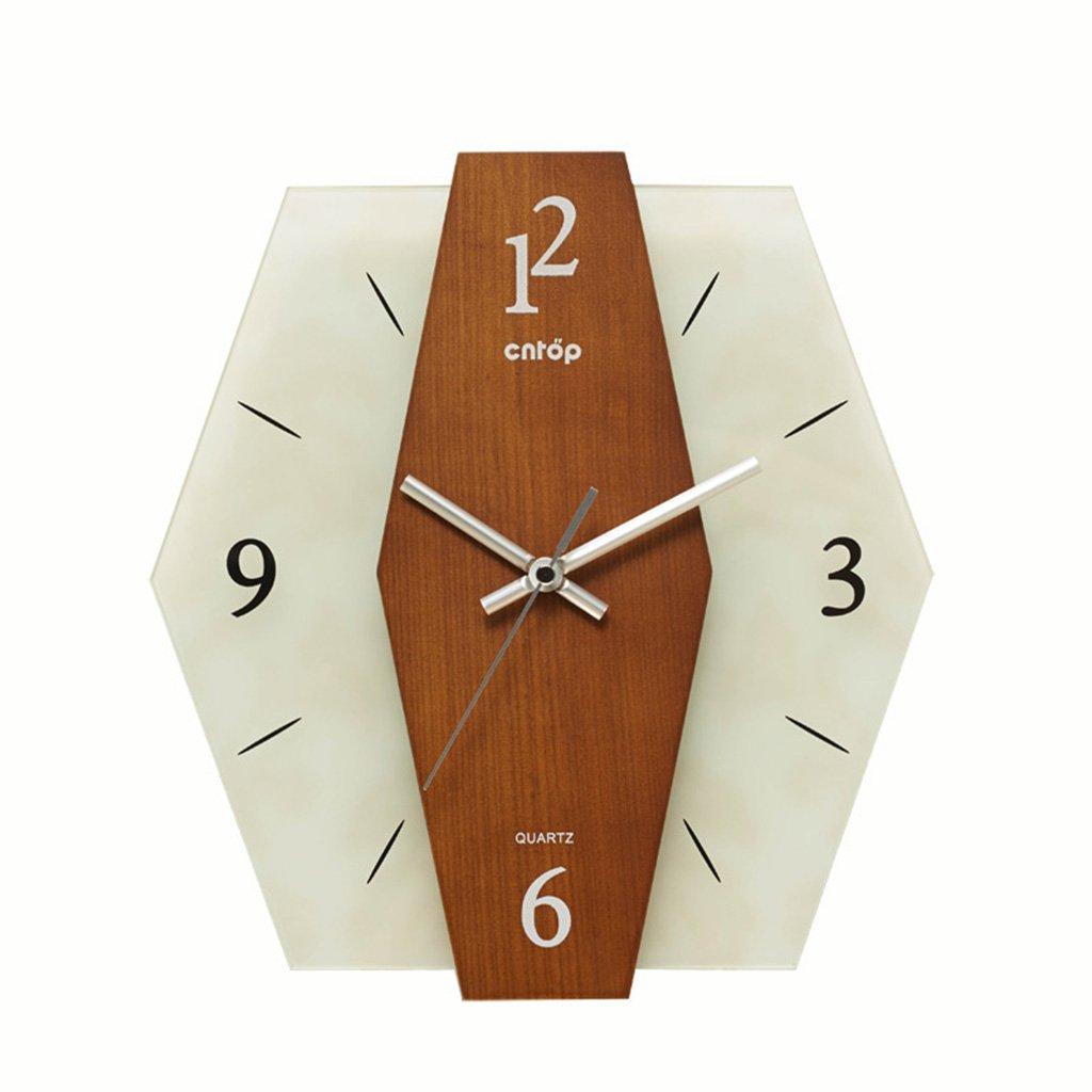 JCRNJSB® 性格の壁時計、田舎のヨーロッパの時計シンプルなベッドルームリビングルームの時計30x28cm 壁掛けサスペンション クロックウォールクロック クォーツ時計 B07CVTSMLL