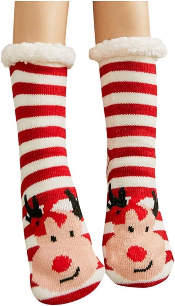 MrTom Calcetines de Navidad, Calcetines de Algodón Térmicos Invierno Mujer Calcetines de Estar por Casa Navideños con Patrones de Papá Noel Reno Copo de Nieve y Muñeco de Nieves MT20: Amazon.es: Hogar