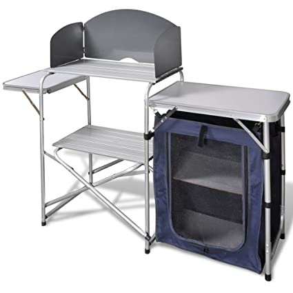 5d4fdfe919f Image Unavailable. Image not available for. Color  BestHomeFuniture Camping  Folding Kitchen Stand and Storage Unit ...