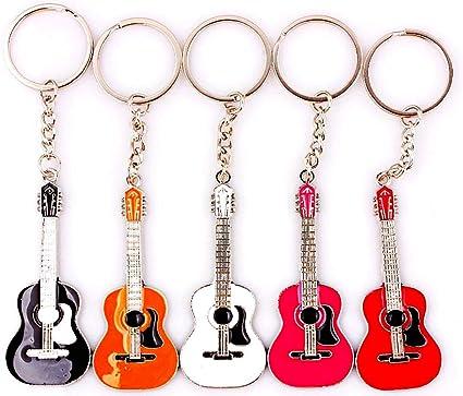 Leonor - Llavero Original de Guitarra clásica, con Guitarra Folk ...