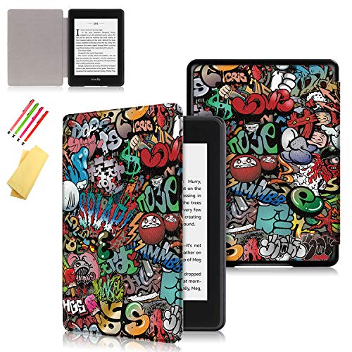 Uliking Kindle Paperwhite 4 2018 Case, Ultra Slim Leather Cover Thin...