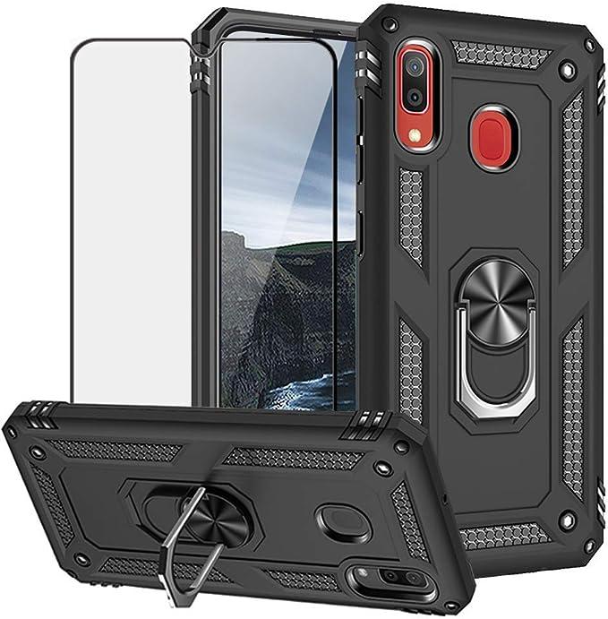 JMstore Funda Compatible con Samsung Galaxy A30//A20 Transparente TPU PC Carcasa.movil con Colgante//Cadena.Protectora ponible Cord/ón Cruzado