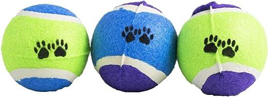 DIGIFLEX Pack de 3 pelotas de tenis para mascotas, color verde ...