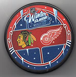 2009 Winter Classic Chicago Blackhawks vs Detroit Red Wings Wrigley Field NHL Hockey Puck + FREE Cube