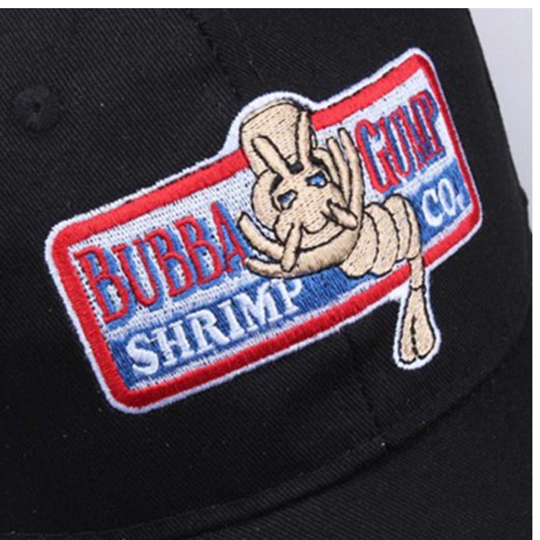 Gorra De B/éisbol del Sombrero De B/éisbol Ajustable 1pc Camarones Bubba Gump Gorra De B/éisbol Bordadas Snapback Operando De Vestuario Deportivo Negro