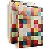 iPad 2 iPad 3 iPad 4 Hülle , VENTER® Illustrator Bildserie Ledertasche Einstellbarem Blickwinkel Anti-Kratzer Schutzhülle für ipad2 iPad3 iPad4