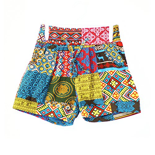Glass House Apparel Women's Summer Casual High Waist Beach Shorts (Small/Medium, Tropic)