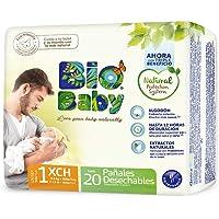 Bio Baby Pañales, Talla Recién Nacido/1, 160 Pañales