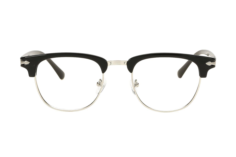 10915d9d9a Embryform TR90 Vintage inspirado clš¢sico medio marco claro lentes gafas:  Amazon.es: Ropa y accesorios