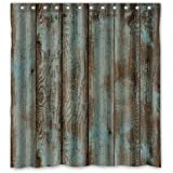 "Welcome!Waterproof Decorative Rustic Old Barn Wood Art Shower Curtain 66""x72""-10"