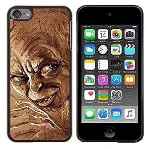 TECHCASE---Cubierta de la caja de protección para la piel dura ** Apple iPod Touch 6 6th Touch6 ** --Elf Ojos azules enanos del cuento de hadas de la película de caracteres